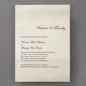 Embossed floral design with thermography print